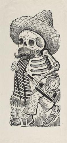 The Macabre Art Of José Guadalupe Posada Mexican Skeleton, Mexican Skulls, Los Muertos Tattoo, Catrina Tattoo, Mexican Tattoo, Skull Coloring Pages, Skeleton Tattoos, Day Of The Dead Art, Mexico Art