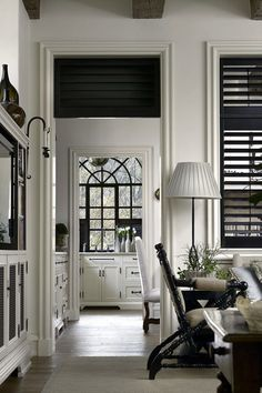 Love The Plantation Style Including Black Shutters Bill Litchfield Designs Kelley Proxmire White Rooms
