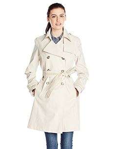 Via Spiga Women's Double-Breasted Trench Coat with Belt Review