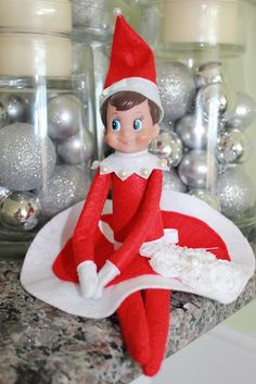 Elf on the Shelf felt skirt diy