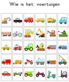 Wie is 't Transportation Theme, Memory Games For Kids, School Themes, Speech And Language, Kids Education, Pre School, Preschool Activities, Kindergarten, Teaching