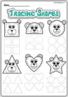 Free Bear-Themed Printable Worksheets