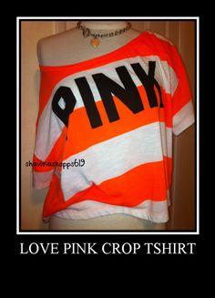 Victoria's Secret Pink Crop Graphic T Shirt