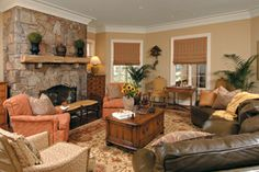 leather couch family room - Google Search