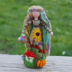 Needle Felted Fairy Spring Fairy Waldorf Toys Gift   Etsy Spring Fairy, Autumn Fairy, Fairy Nursery, Felt Fairy, Fairy Figurines, Needle Felted, Waldorf Toys, Fairy Dolls, Felt Dolls