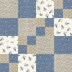 Blue Quilts, Scrappy Quilts, Easy Quilts, Quilt Block Patterns, Pattern Blocks, Quilt Blocks, Quilting Projects, Quilting Designs, Sewing Projects