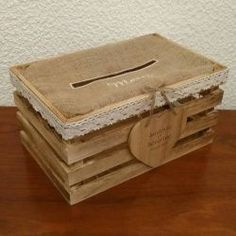 cagnotte : la cagette / urne pour mariage champetre