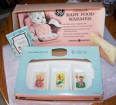 Image detail for -Vintage GE Baby Food Warmer BLUE Little Jack Horner Mother Goose ...