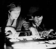 Lotte Reiniger and Berthold Bartosch, 1926, multiplane camera