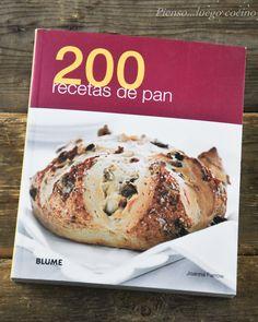 200 recetas de pan, libro de panes con amasado tanto tradicional como con panificadora.