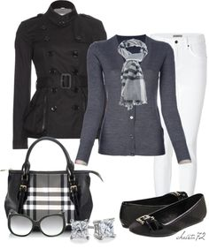 """Burberry for the Weekend"" by christa72 ❤ liked on Polyvore"