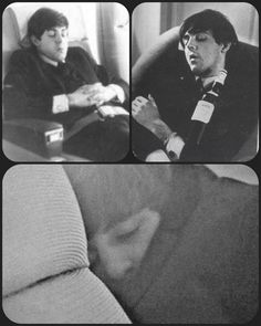 Although it looks like someone placed that bottle on him, maybe John, lol! Great Bands, Cool Bands, My Love Paul Mccartney, John Lemon, Beatles Funny, Bug Boy, All My Loving, Music Genius, The Fab Four