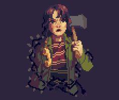 Joyce Byers from Stranger Things - Pixel Art