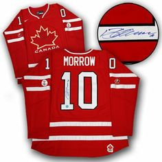 BRENDAN MORROW Team Canada SIGNED 2010 Olympic JERSEY . $379.05. This is an official licensed SIGNED Brenden Morrow Olympic Team Canada jersey. The jersey is brand new with all of the lettering and numbering professionally sewn on. The player has beautifully signed the number. To protect your investment, a Certificate Of Authenticity and tamper evident hologram from A.J. Sports World is included with your purchase.