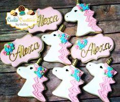 Unicorns decorated cookies