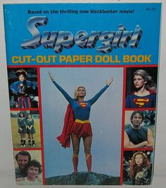 Supergirl--remember all the merch from this movie? i remember it being pretty popular. why couldn't this happen again today? supergirl and wonder woman are waiting! Helen Slater Supergirl, Supergirl Movie, Supergirl Superman, Batman, Paper Dolls Book, Vintage Paper Dolls, Superman Love, Lying Game, Arte Dc Comics