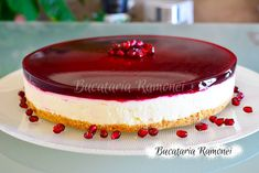 Cheesecake cu rodie Cookie Recipes, Cheesecake, Deserts, Cookies, Foods, Gelatin, Food, Crack Crackers, Food Food