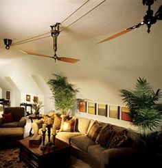 One of our goals is to design and build an energy efficient home. These fans will definitely get us there in style! Brewmaster Belt Driven Ceiling Fan #BarnLightElectric