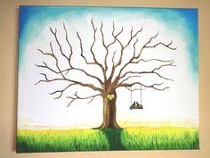 Wedding tree I, oil painting