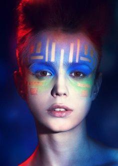 geometric makeup - Google Search