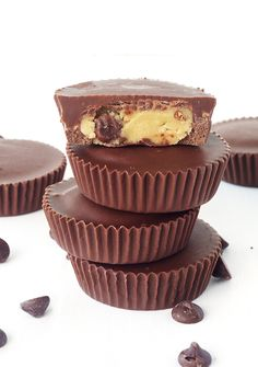 Chocolate Chip Cookie Dough Chocolate Cups