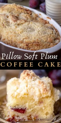 A soft and fluffy coffee cake made with homemade plums and a delicious streusel topping. #breakfast #coffeecake #dessert #dessertrecipe #cakedessert #breakfastrecipe #softcake #coffeecakerecipe #sweetrecipe #deliciousrecipe Quick Bread Recipes, Baking Recipes, Cake Recipes, Dessert Recipes, Dessert Ideas, Cake Ideas, Winter Desserts, Easy Desserts, Delicious Desserts