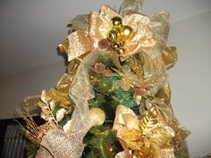 Árvore Gold (ouro e pérola)-3