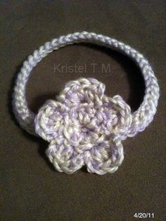 Crochet Baby Headband Tutorial