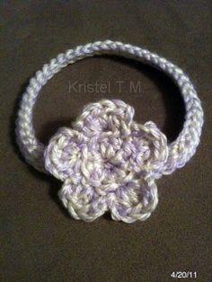 Crochet Baby Headband Tutorial