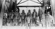 Wyoming Roughnecks cap an oil well in the Salt Creek oilfield near Casper in the 1920's.