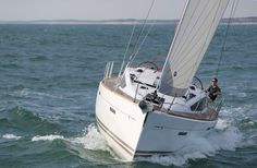 Jeanneau Sun Odyssey 41DS: Jeanneau's optional self-tacking jib allows the helmsperson to set the sail trim once without constant adjustment and is ideal for single-handed beating in a fresh breeze. @jeanneauaustral #jeanneau