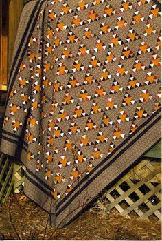Black Hawk - of my all time favorite quilts-check out her site! Love this quilt Quilts Vintage, Antique Quilts, Fall Quilts, Scrappy Quilts, Quilting Projects, Quilting Designs, Quilting Ideas, Quilting Tutorials, Orange Quilt