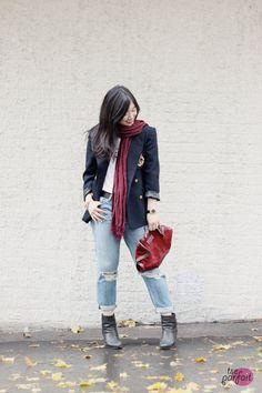 Ralph Lauren schoolboy #blazer x Rag & Bone boyfriend #jeans