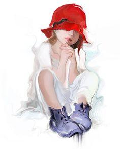 Gallery.ru / Фото #1 - Dievca v cervenom klobuku - zuzas