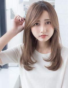 Pin on ヘアースタイル Medium Long Hair, Long Hair Cuts, Cute Haircuts, Hairstyles Haircuts, Asian Haircut, Hair Skin Nails, Hair Goals, Hair Inspiration, Curly Hair Styles