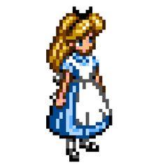 pixel art Alice Wonderland Pixel Alice In by thesunrisemassacre piq
