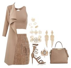 """""""Untitled #46"""" by miranz ❤ liked on Polyvore featuring Balmain, Schutz, Calvin Klein, Stella & Dot, Charlotte Russe, Forever 21 and Stephen Webster"""