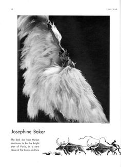Hollywood Icons in Vanity Fair—When They Were Unknowns | Josephine Baker, 1929