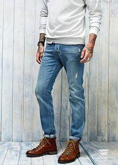 가죽 워커 부츠 - 신발 - 남성   H.E. BY MANGO
