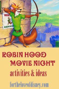 robin hood movie night or party ideas Movie Disney Family Day: Robin Hood Movie Night Disney Dinner, Disney Home, Family Movie Night, Family Day, Family Theme, Disney Family Movies, Dinner And A Movie, Movie Themes, Photos