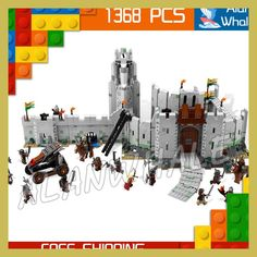 1368pcs The Lord of the Rings The Battle of Helm's Deep 16013 Axe Model Building Kit Blocks Toys Bricks Compatible with Lego