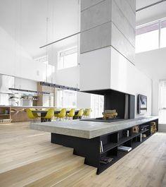 offener wohnbereich kaminofen sichtseiten blech naturstein. Black Bedroom Furniture Sets. Home Design Ideas