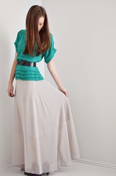 Girl Charlee Fabrics: Tutorial Tuesday :: Chiffon Maxi Skirt Sewing Tutorial from Melissa Esplin