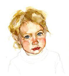 watercolor portrait of Scarlette Rose