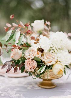 Spring Wedding Blush Floral Centerpiece