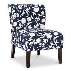 I love this floral chair - and the price is just right!!! $135!