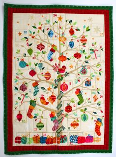 Get ready for Christmas with this patchwork advent calendar, perfect for holding sweet treats and trinkets for little ones or even adults. Text courtesy...