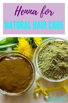 How to Use Henna for Natural Hair Care - CaLoveCo. - Want to incorporate henna into your hair care routine? This is for everyone who has heard about henna for hair and wants to know what all the fuss is about. Henna For Hair Growth, Henna Natural Hair, Natural Hair Growth, Natural Skin Care, Henna Hair Dyes, Dyed Hair, Natural Beauty, Diy Hair Care, Curly Hair Care