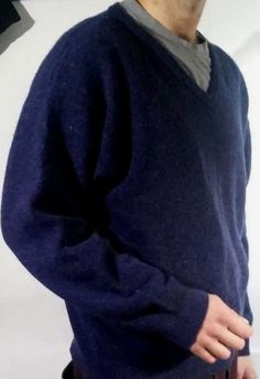North Creek  Sportswear Navy Blue 100% Lambswool JUMPER/SWEATER #NorthCreek #VNeck #Sweater #eBay #Fashion
