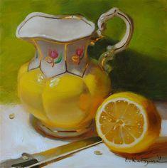 "Daily Paintworks - ""Gold Reflection"" by Elena Katsyura"